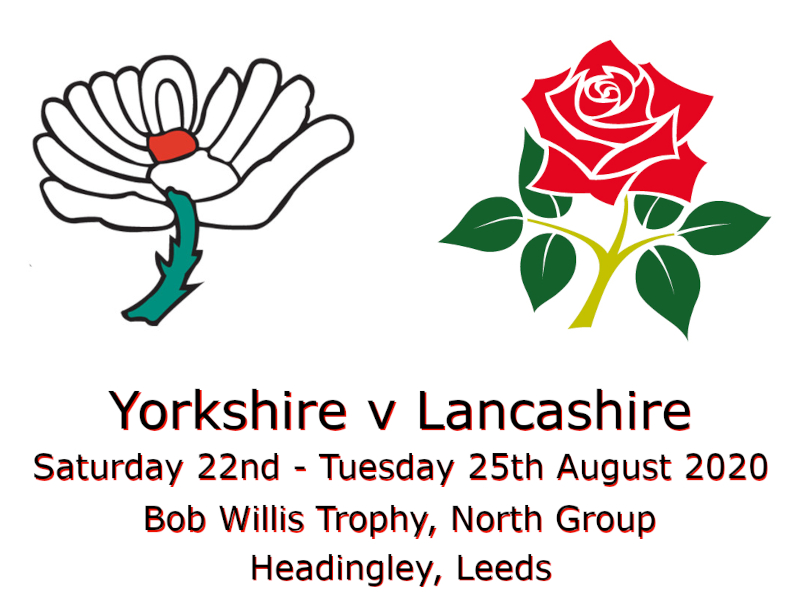 Yorkshire v Lancashire Bob Willis Trophy August 2020