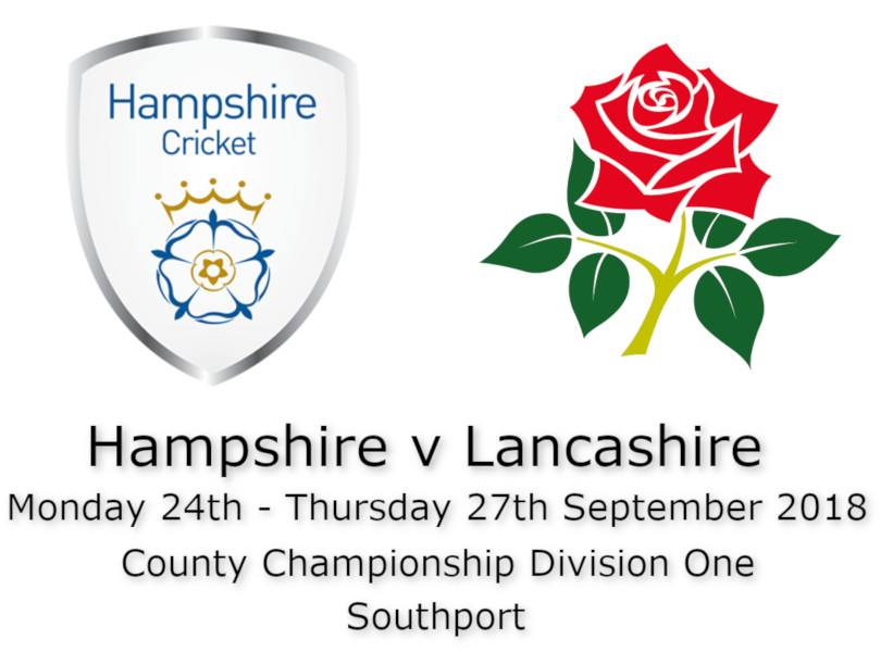 Hampshire v Lanashire County Championship September 2018