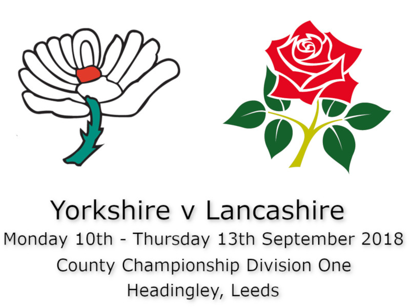 Yorkshire v Lanashire County Championship September 2018