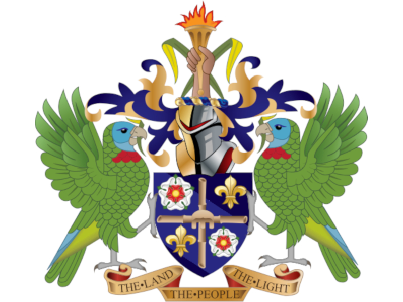 West Indies, St. Lucia coat of arms