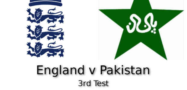 England v Pakistan 3rd Test Edgbaston