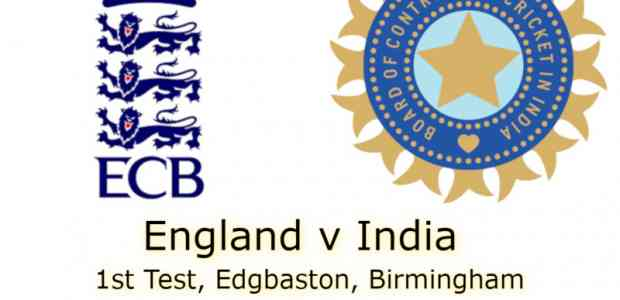England v India Edgbaston 1st Test