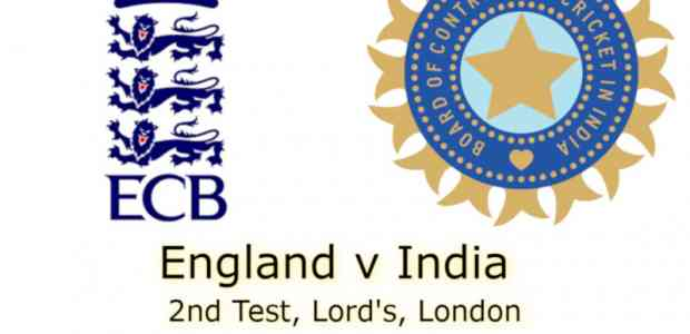 England v India Lord's 2nd Test