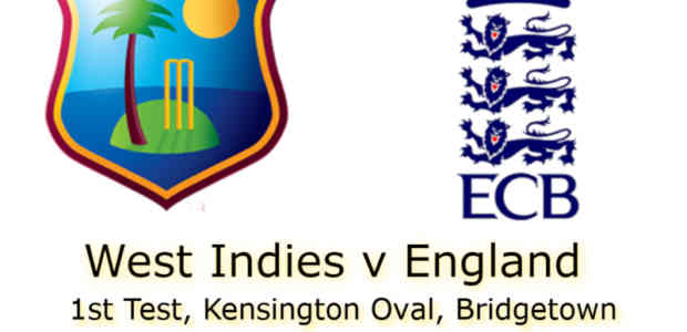 West Indies v England Bridgetown 1st Test