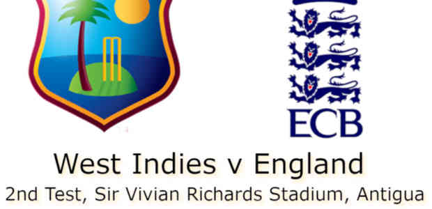 West Indies v England Antigua 2nd Test
