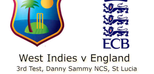 West Indies v England St Lucia 3rd Test