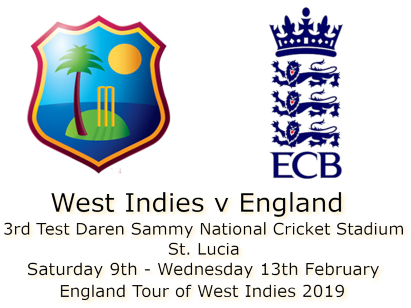West Indies v England St. Lucia 3rd Test