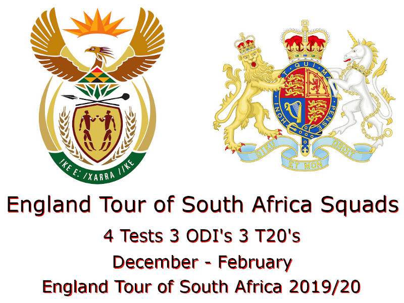 England Tour of South Africa Squads
