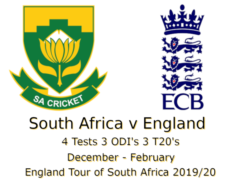 England Tour of South Africa 2019/20 Devildogs Archive