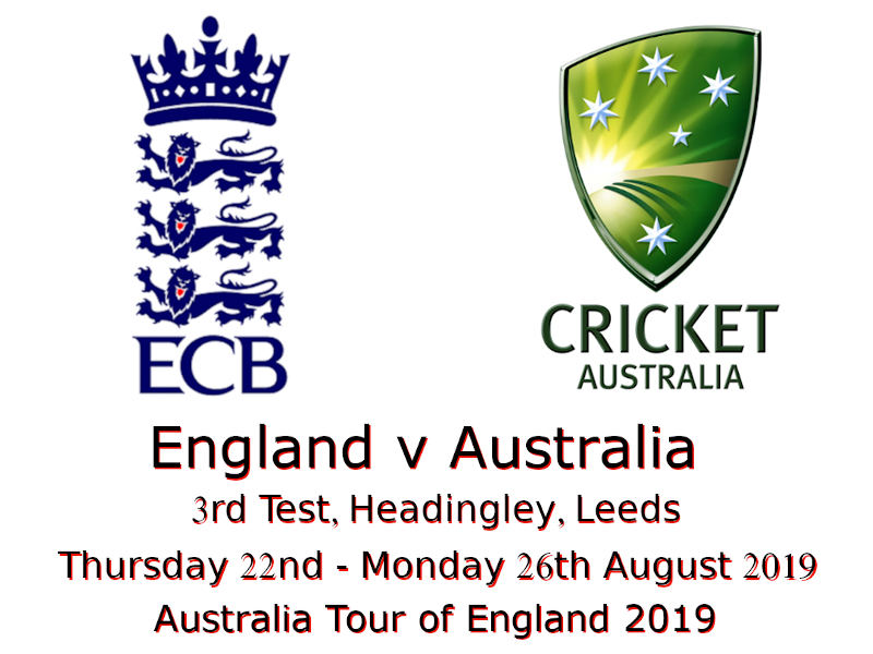 England v Australia Ashes 3rd Test 2019 Devildogs Archive