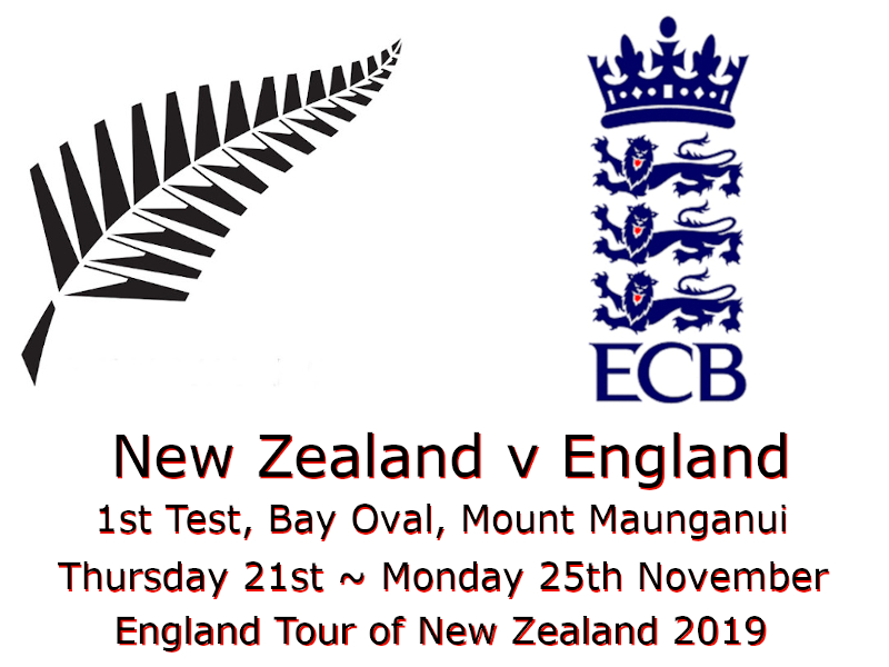 New Zealand v England 1st Test, Bay Oval, Mount Maunganui 2019 : Devildogs Archive