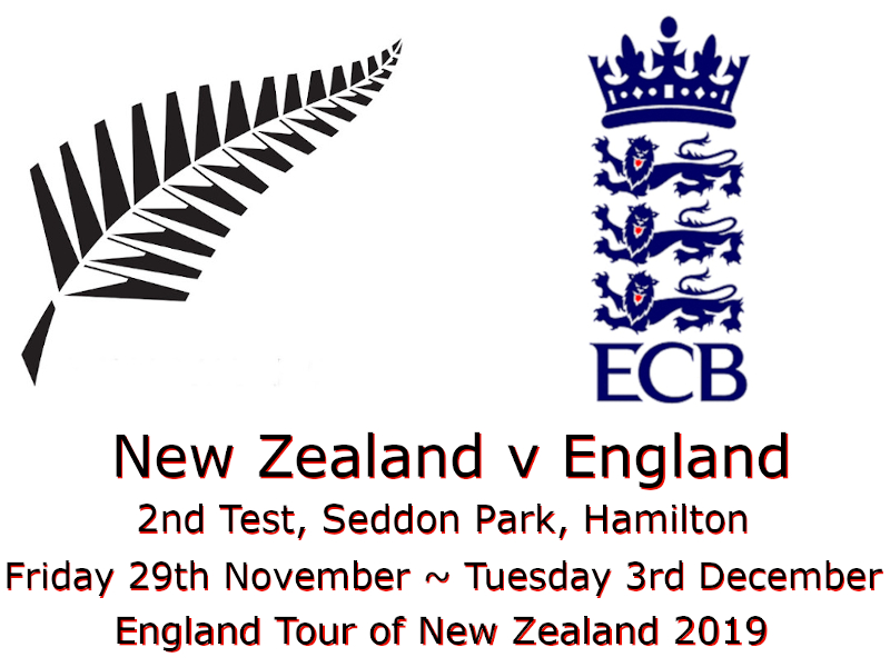 New Zealand v England 2nd Test, Seddon Park, Hamilton 2019 : Devildogs Archive