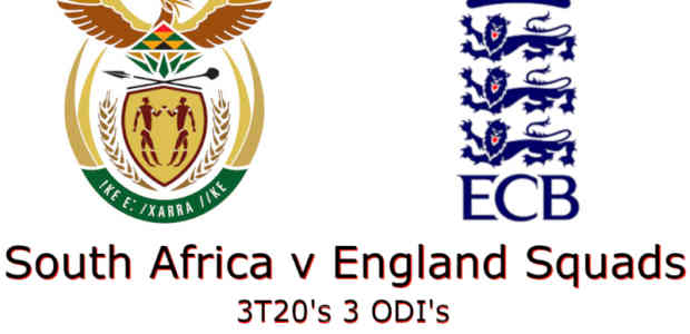 England Tour of South Africa 2020 Squads