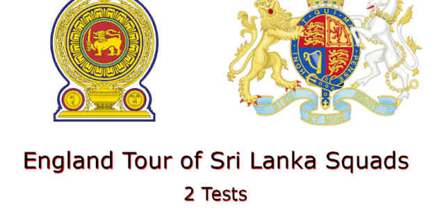 England Tour of Sri Lanka Squads