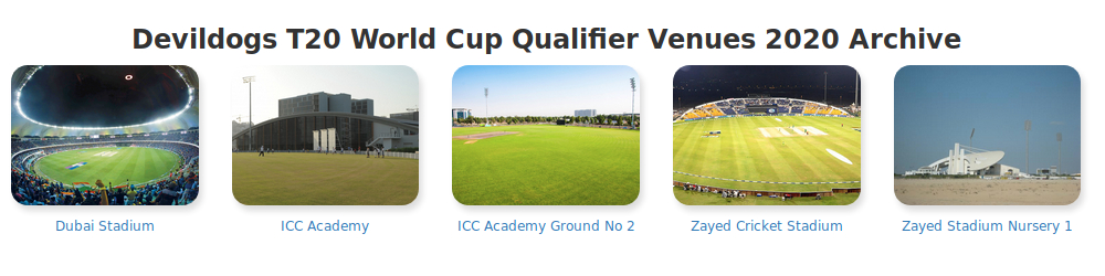 T20 World Cup Qualifier Venues