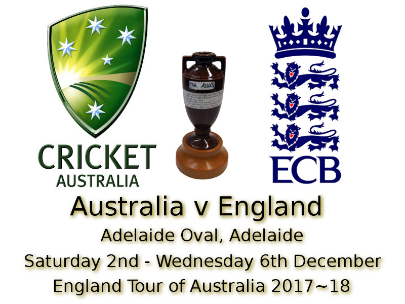 Ashes 2nd Test Adelaide Oval Adelaide