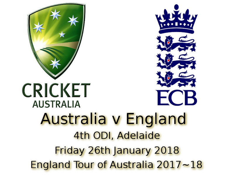 4th ODI Adelaide