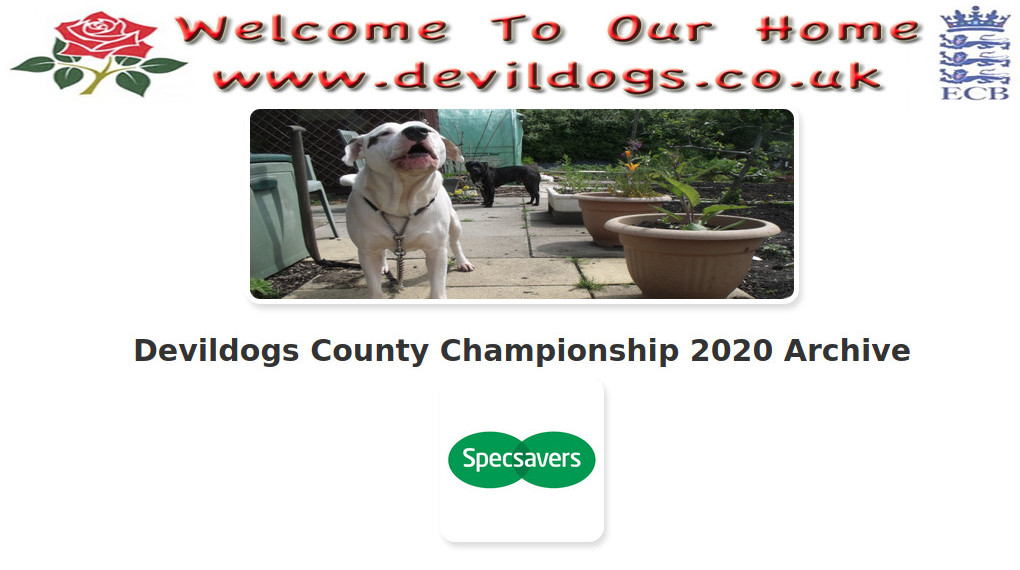 Devildogs County Championship 2020 Archive