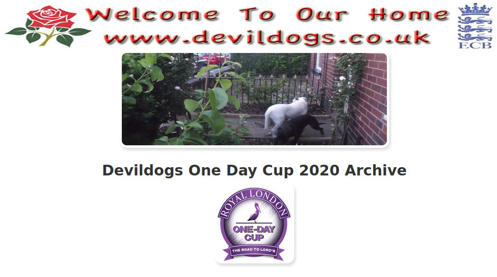 Devildogs One Day Cup 2020 Archive