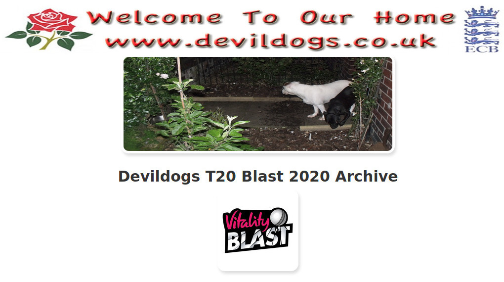 Devildogs T20 Blast 2020 Archive